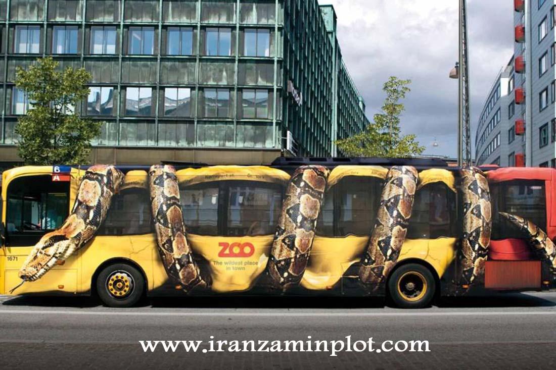 چاپ استیکر تبلیغاتی اتوبوس