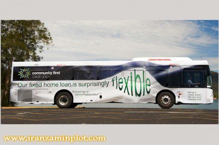 کاربردهای مختلف چاپ استیکر-چاپ استیکر روی اتوبوس