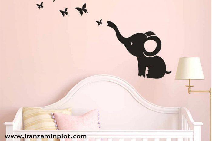 چاپ استیکر اتاق خواب کودک
