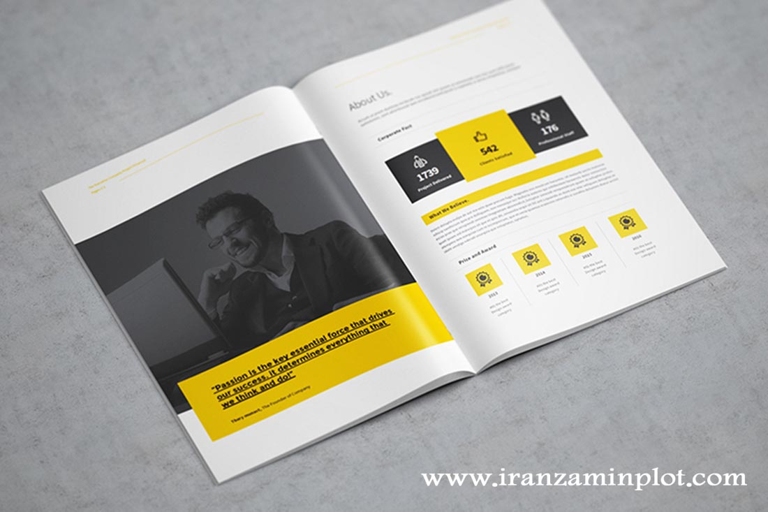 معرفی خدمات چاپخانه ایران زمین-چاپ کاتالوگ پنج رنگ